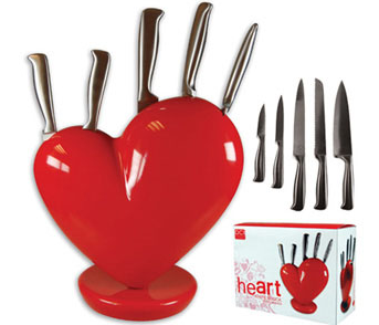 Broken Heart Knife Block